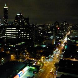 Davie Street at night
